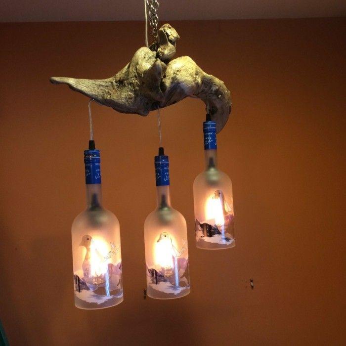 Treibholz Lampe Diy Ideen Flaschen