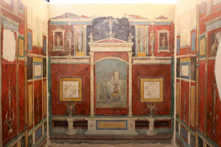 Casa della Farnesina, Roma. Gli affreschi della fine del I secolo a.C. Museo Nazionale Romano