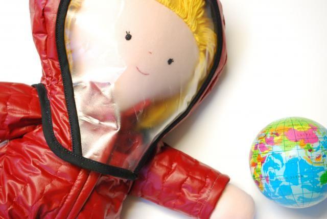 Juultje de astronaut - helm voor poppen Tante Hilde