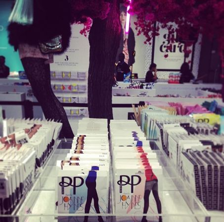 JOANNE HYNES X Pretty Polly now stocked in TOPSHOP at Oxford Circus, London.