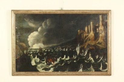 Mare in tempesta, Olio su tela. Reintelato.  #dimanoinmano #arte #occasioni #dipinti #painting #art