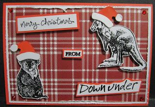 BaRb'n'ShEll Creations - Australiana Christmas Cards - made by Shell