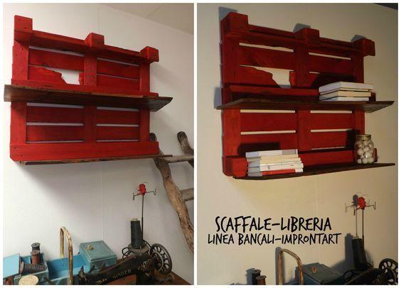 Realizzare Scaffale In Legno.Costruire Uno Scaffale Con I Bancali Librerie Nel 2019 Scaffali