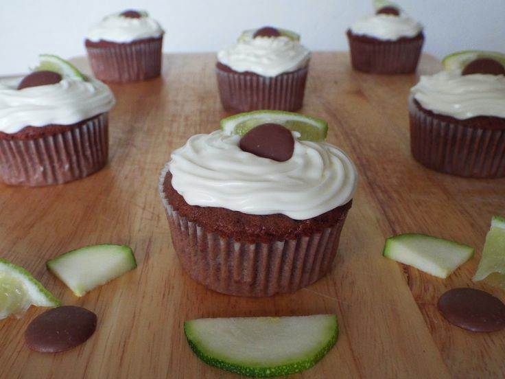 Chocolate, Lime and Courgette Cupcakes