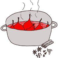 Koken met Karin, stoofpeertjes in rode wijn