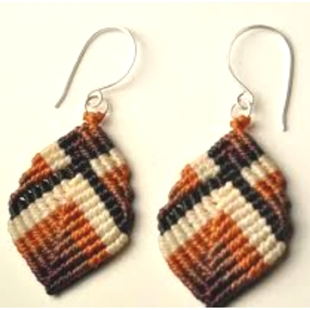 Macramé Buddha earrings