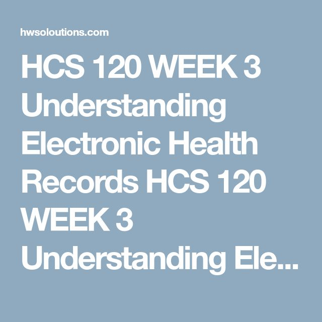HCS 120 WEEK 3 Understanding Electronic Health Records HCS 120 WEEK 3 Understanding Electronic Health Records HCS 120 WEEK 3 Understanding Electronic Health Records Understanding Electronic Health Records  Write each term's definition as used in health care. You must define the term in your own words; do not simply copy the definition from a textbook or other source. Provide an explanation that illustrates the purpose or importance of the identified term as it relates to Electronic Health…