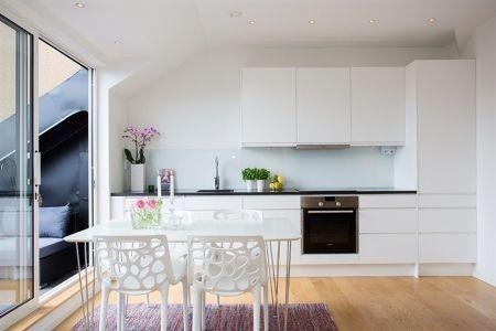 45 m di fanos con terraza minis blog and layout - Cocinas para pisos pequenos ...