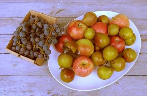 Pear And Concord Grape Pie Recipe — Dishmaps