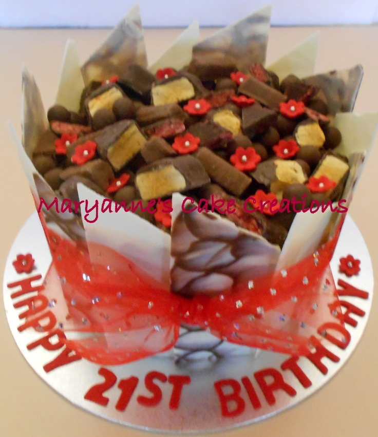 Chocolate Panel Cake - Birthday Cake -White Chocolate