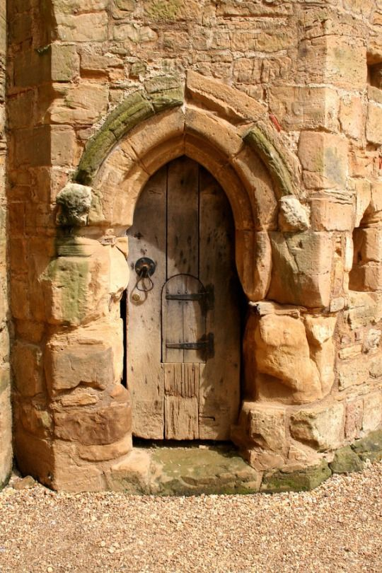 ancient door  ~  Do they have an inner door or draperies to keep out the draughts?