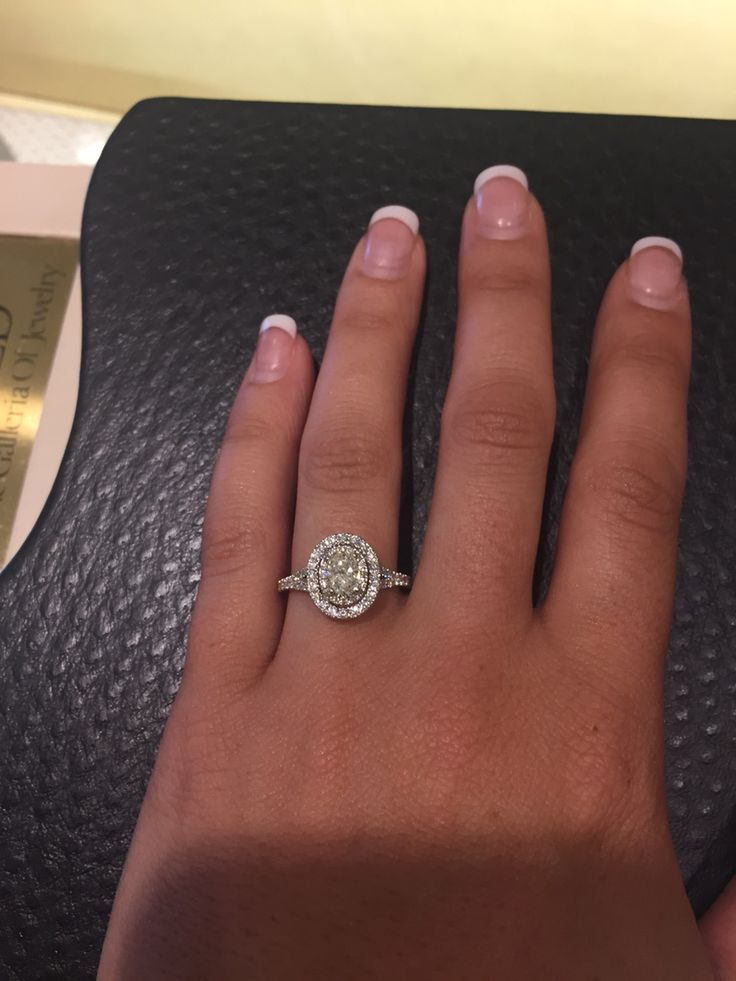 Neil Lane double halo oval engagement ring. This is it! Needs a different stone ...
