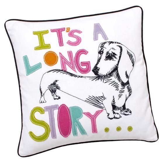 ASPCA Pet Pals Pillow Cover, 18x18, Dachshund Visit our website now!