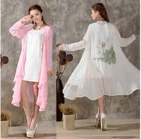 Прямая поставка! 2016 осень китайский стиль кардиган женщины blusas Большой размер вершины мода широкий хлопка с длинными рукавами блузка