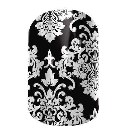 Black and White Damask  nail wraps by Jamberry Nails