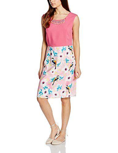 Almost Famous Damen Kleid Floral Bird Skirt Dress