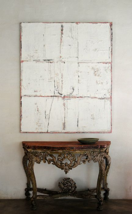 Painting by Jupp Linsen. Oil, soil, and mixed media on canvas, 2011; 150 x 180 cm.