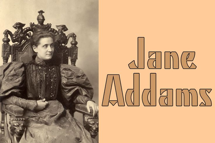 Jane Addams (September 6, 1860 – May 21, 1935) was a pioneer American settlement activist/reformer, social worker, public philosopher, sociologist, author, and leader in women's suffrage and world peace. She created the first Hull House. In an era when presidents such as Theodore Roosevelt and Woodrow Wilson identified themselves as reformers and social activists, Addams...Read More »