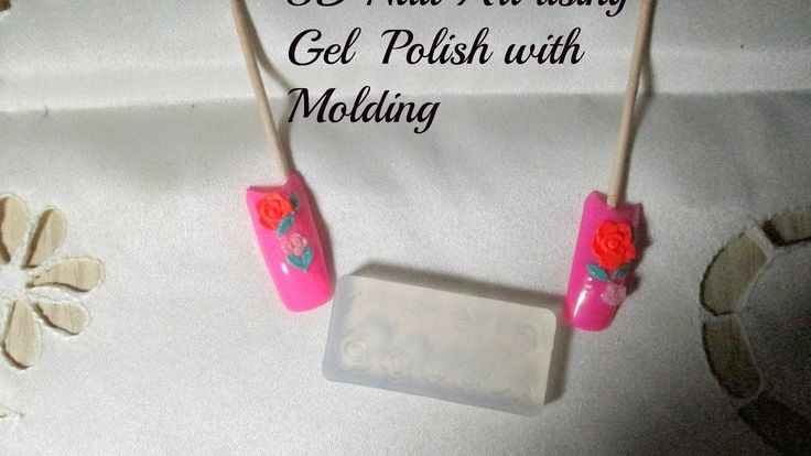 3D Nail Art using Gel  Polish with Molding