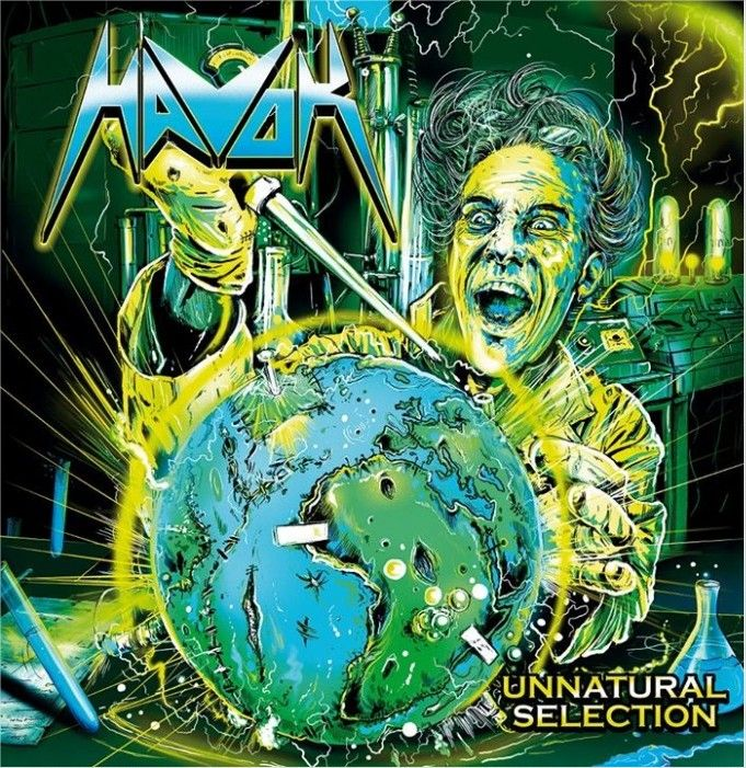 Portada del nuevo álbum de HAVOK titulado 'Unnatural Selection'