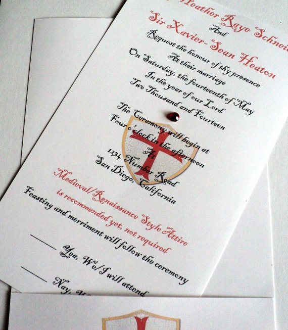 28 Best Medieval Wedding Invitations Images On Pinterest: 1000+ Images About Renaissance Style Wedding Invites On