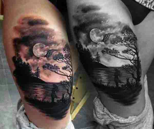 Night sky tattoo