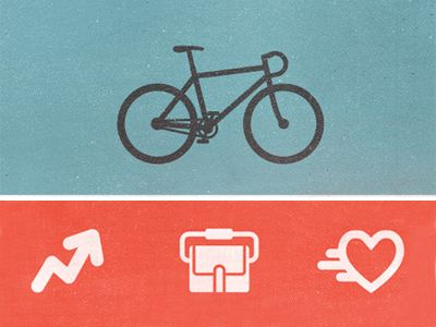 Fixed Gear Bicycle Icons by by Zach Roszczewski