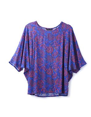 paisley knit batwing top