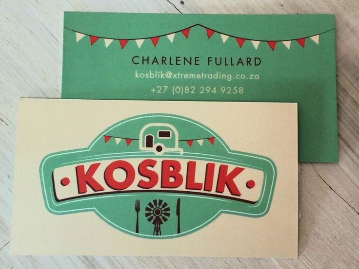 logo and identity design for Kosblik Food Services by AdamsRib Design