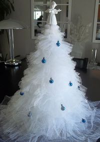 Steps to Making a Christmas Tree out of Tulle