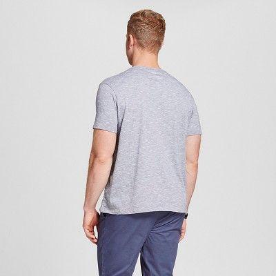 Men's Big & Tall V-Neck Jersey T-Shirt - Merona Gray LT