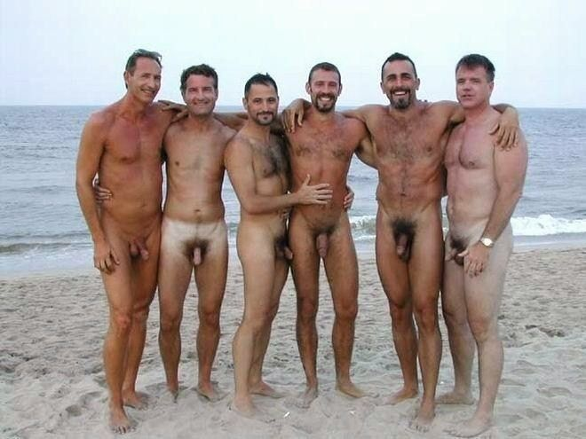 Group naked men