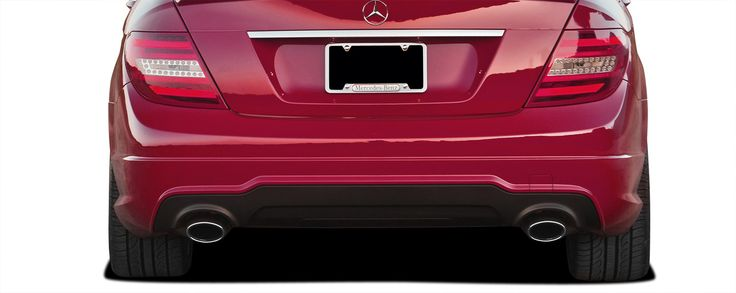 2008-2014 Mercedes C Class C350 W204 Vaero C63 V2 Look Rear Bumper Cover ( without PDC ) - 2 Piece