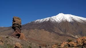 Mount Teide is a volcano on Tenerife in the Canary Islands. Its 3,718-metre summit is the highest point in Spain and the highest point above sea level in the islands of the Atlantic. There are cable cars that go up and down the volcano allowing tourists to get a fantastic view.