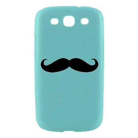 GEEK Tiffany Mustache Samsung Galaxy S3 S 3 SIII S III Hardshell Case Cover
