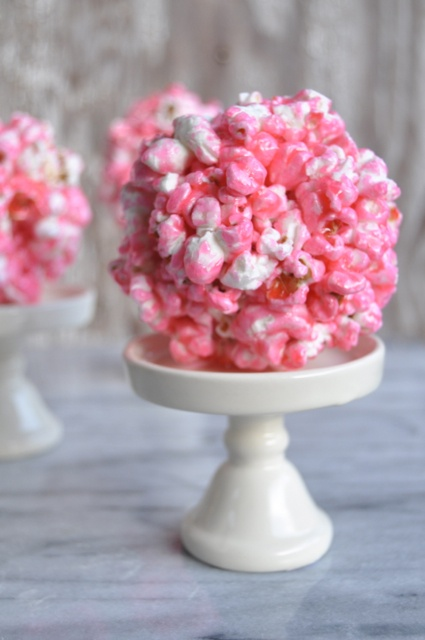 I remember getting these for Halloween as a kid  :)  Another traditional popcorn ball recipe. I used to make them in different colors @Poppy Bear. You gotta try it! 8-)
