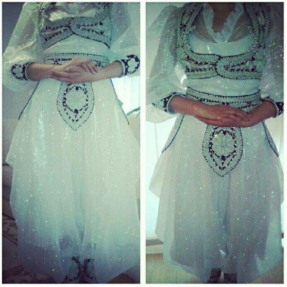 Bosnian bride in white / silver Kat Glitter ♡♥♡♥