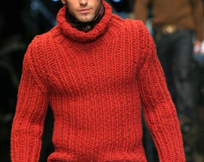 Punto de cuello alto suéter con cuello en v hombres suéter tejido a mano cuello redondo hombres de suéter cardigan hombres hechos a mano ropa tejer cableados a mano