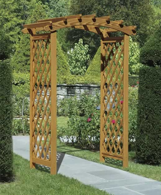 Garden arbors wooden arbors poly arbors for rich for Timber garden arch designs