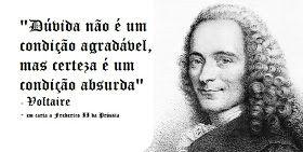 Frases para Internet : Facebook, Twitter, Orkut: Voltaire - Motivacional - Dúvida e Certeza