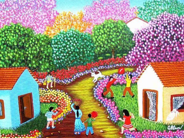 Arte Naif  Pontilhado