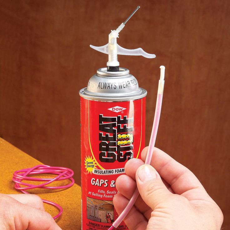 Forget to clean the plastic tube and nozzle after using half a can of spray foam? Find out how to save that can of foam with one simple trick.