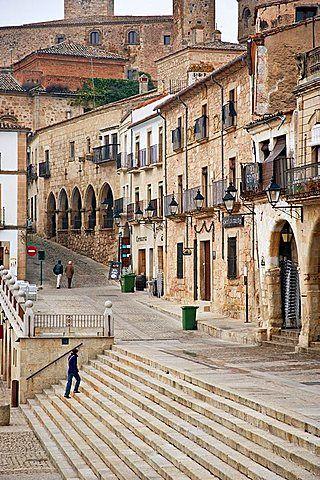Plaza mayor de Trujillo, Extremadura, Cáceres, España