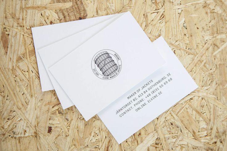 Logo and business cards for Swedish clothing brand Elvine designed by Lundgren+Lindqvist