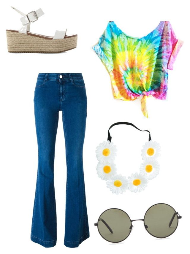 """Hippie Halloween costume #1"" by tayloryost63 on Polyvore featuring Forever 21, STELLA McCARTNEY and Steve Madden"