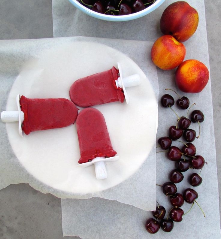 Cherry and Nectarine Popsicles
