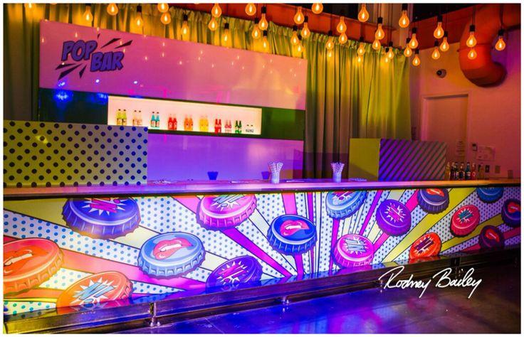 Pop Bar   Soda Bar   Edison Bulbs   Pop Art Party   Sweet Sixteen   Birthday Party   Colorful   Steel Stacks   Pennsylvania   Rodney Bailey Photojournalism   Magnolia Bluebird design & events   Washington D.C.