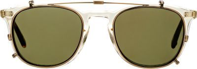 Garrett Leight Kinney Glasses & Clip-On Sunglasses at Barneys New York