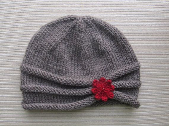 Knitting Pattern Rolled Brim Hat in Size Adult #87