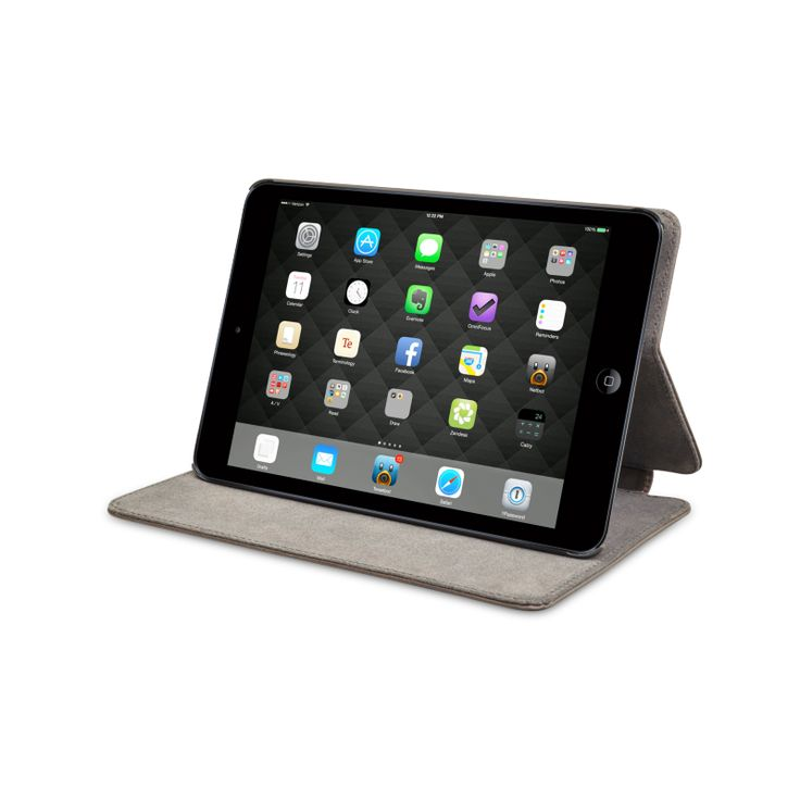 'Copenhagen 2' is a newer version of our classic 'Copenhagen' line. 'Copenhagen 2' protects your iPad Mini while providing you with numerous viewing angles. Your iPad Mini can also be flipped over to stand up, making an easy-to-use display for your work on the move.